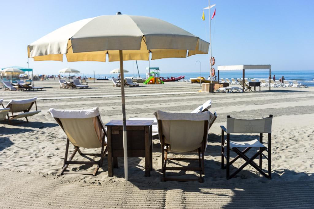 La spiaggia del bagno stella bianca elegante e rilassante - Bagno stella valverde ...