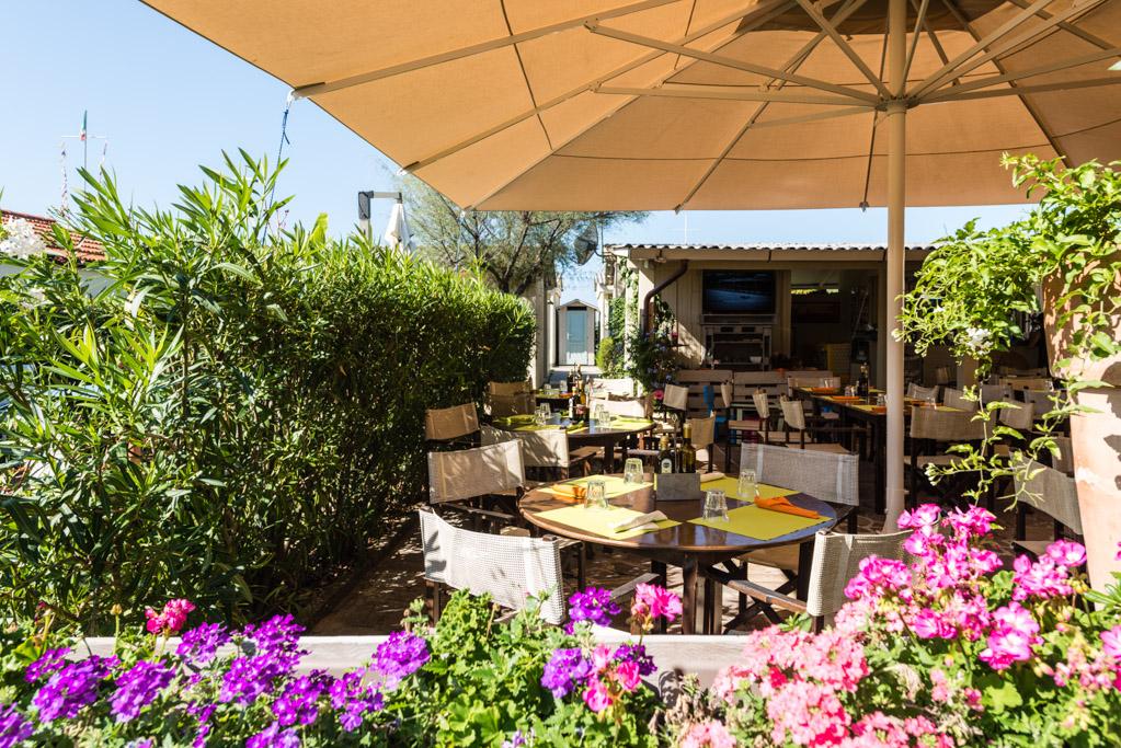 Il ristorante del Bagno Stella Bianca